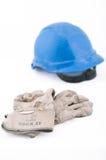Casco y protectives de trabajo Foto de archivo
