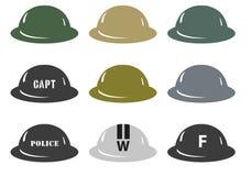 Cascos de MkII del ejército británico imagen de archivo libre de regalías