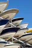 Cascos del barco de placer Imágenes de archivo libres de regalías