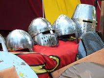 Cascos medievales Foto de archivo