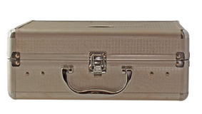 Case. A little metal case isolated over white Royalty Free Stock Photo