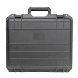 Case. Black heavy-duty case for fragile equipment Stock Image