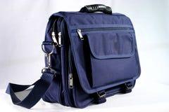 Case. Blue laptop case on white backgorund stock photos