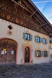 Case affascinanti di Garmisch-Partenkirchen Fotografie Stock