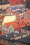 Case in affitto variopinte nella città di Bolkow Fotografia Stock