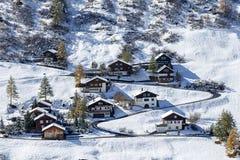 Case alpine Immagini Stock Libere da Diritti
