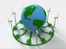 Potere verde Fotografie Stock
