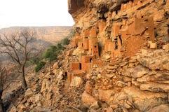 Case antiche di Tellem e di Dogon Fotografia Stock Libera da Diritti