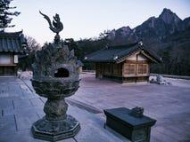 Case asiatiche in tempio di Sinheungsa Fotografia Stock