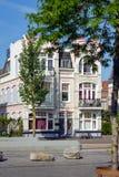 Case belghe in Vlissingen, Paesi Bassi fotografia stock