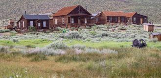 Case in Bodie, California fotografia stock