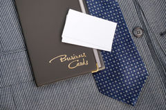 Case and business cards Royalty Free Stock Photos
