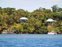Case caraibiche nel Panama Fotografia Stock