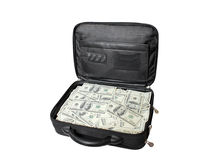 Case with cash Stock Photo