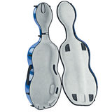 Case cello velvet filling, open view Royalty Free Stock Image
