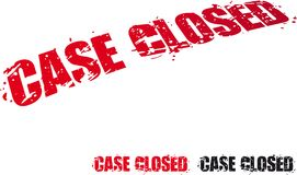 Case Closed. Vector rubber stamp text case closed Stock Image