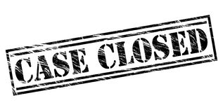 Case closed black stamp Royalty Free Stock Images