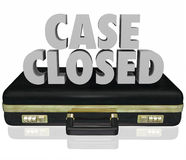 Case Closed Briefcase Lawsuit Settlement Ending Closure Final De. Case Closed words in 3d letters on a black leather briefcase to illustrate a lawsuit or Royalty Free Stock Images