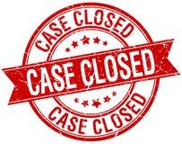 Case closed grunge retro red ribbon stamp Stock Photos