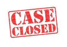 CASE CLOSED Stock Photography