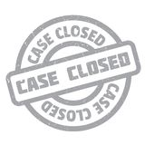 Case Closed rubber stamp Stock Photography