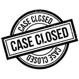 Case Closed rubber stamp Royalty Free Stock Image