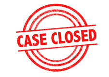 CASE CLOSED Rubber Stamp Stock Images