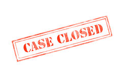 `CASE CLOSED ` rubber stamp over a white background Royalty Free Stock Photos