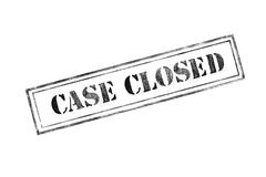`CASE CLOSED ` rubber stamp over a white background Royalty Free Stock Images