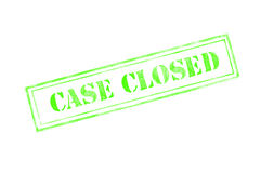 `CASE CLOSED ` rubber stamp over a white background Stock Photos