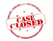 Case closed. Rubber stamp with text case closed inside,  illustration Stock Images
