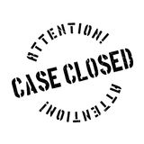 Case closed stamp Stock Photos