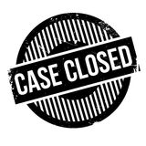 Case closed stamp Royalty Free Stock Photo