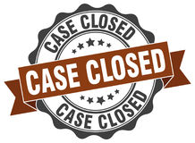 Case closed stamp Stock Photo