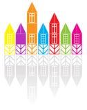 Case colorate Fotografia Stock Libera da Diritti