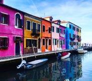 Case Colourful Fotografia Stock Libera da Diritti