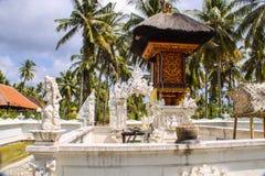 Case complesse del tempio indù con i fantasmi, di Nusa Penida, l'Indonesia Immagine Stock
