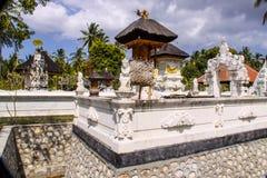 Case complesse del tempio indù con i fantasmi, di Nusa Penida, l'Indonesia Fotografia Stock