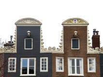 Case con mattoni a vista 0996 di Amsterdam Fotografia Stock