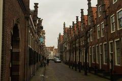 Case con mattoni a vista Haarlem Fotografie Stock