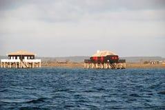 Case dei pescatori nel d'Arcachon di Bassin Immagini Stock
