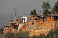 Case dei poveri di Tansen Immagini Stock