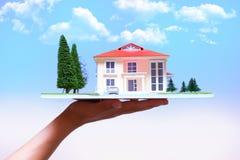 Case del bene immobile?, appartamenti da vendere o per affitto Fotografia Stock Libera da Diritti