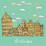 case del canale di Amsterdam Illustrazione di Stock