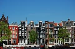 case del canale di Amsterdam fotografia stock libera da diritti