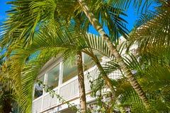 Case del centro della via di Key West in Florida Immagini Stock Libere da Diritti