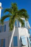 Case del centro della via di Key West in Florida Fotografia Stock Libera da Diritti