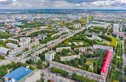 Case del gran-pannello di area dell'alloggio Tjumen' La Russia Fotografia Stock