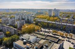 Case del gran-pannello di area dell'alloggio Tjumen' La Russia Immagini Stock