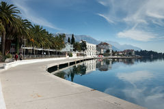Case del mare adriatico sulla spiaggia Il lusso alloggia i haciendas sul Fotografie Stock